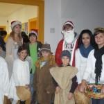 Schüler der Wiestorschule machen einen Nikolausbesuch