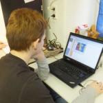 Nico am Rechner