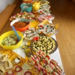 Das Buffet, vorbereitet von Kl.7/8 und Frau Dietsche