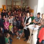 Reden der Projektinitiatoren Frau Dittert und Herrn Attenhauser (CJD-Bodensee-Oberschwaben)
