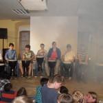 Die Djemben-Gruppe unter Leitung von Herr Rieck