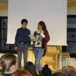 Das Schülersprecherteam moderierte