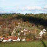 Blick auf Indelhausen und das Waldschulheim